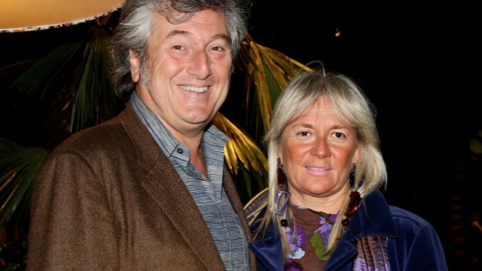 Виторио Мисони със съпругата си Мауриция Кастилиони, Милано, април 2010 г.