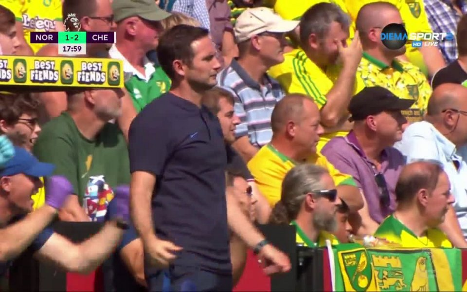Норич и Челси се оттеглиха на почивка при резултат 2:2