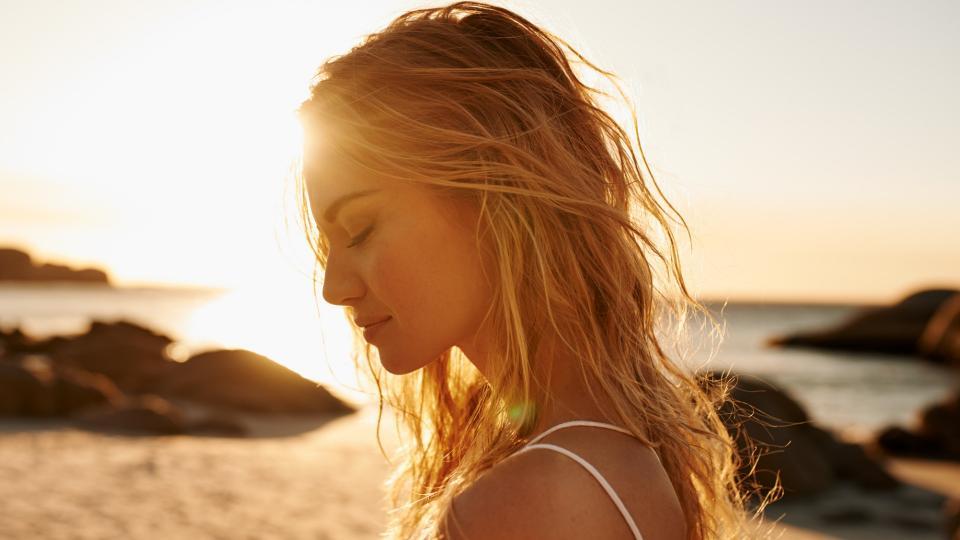 жена лято плаж