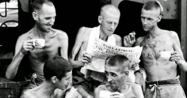 Любопитно 1945, Сингапур: Бивши военнопленници пият чай 20 процента от