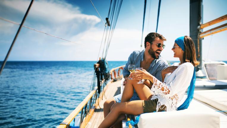 двойка щастие любов море океан