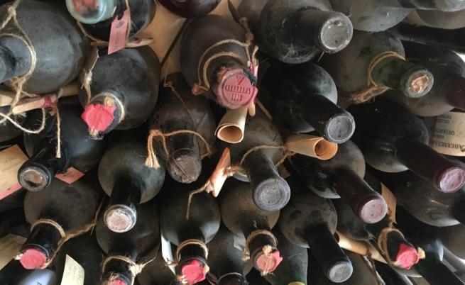 Освен че създава вино, Анна събира стари вина от цяла България
