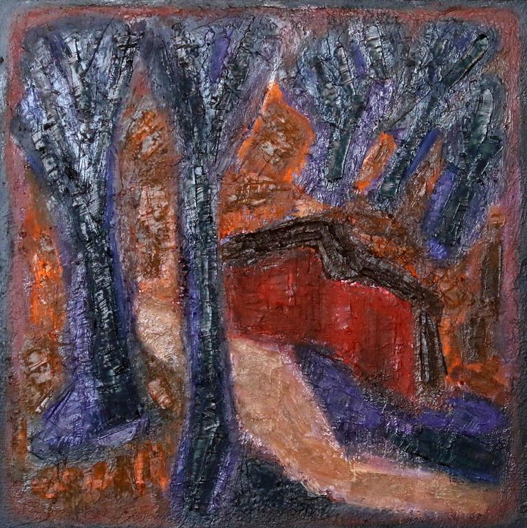 <p>Пейзаж с червена къща</p>