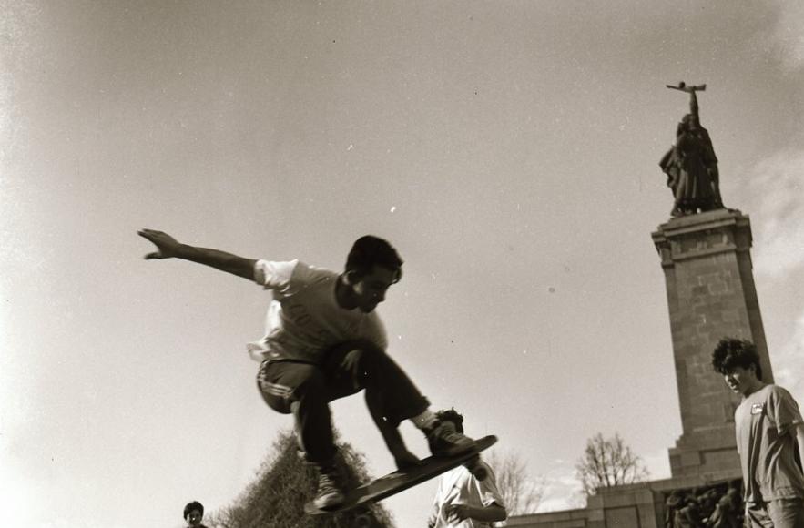 <p>Кадри от изложбата &quot;Скейтъри от миналите времена&quot; Автор: Мартин Младенов</p>