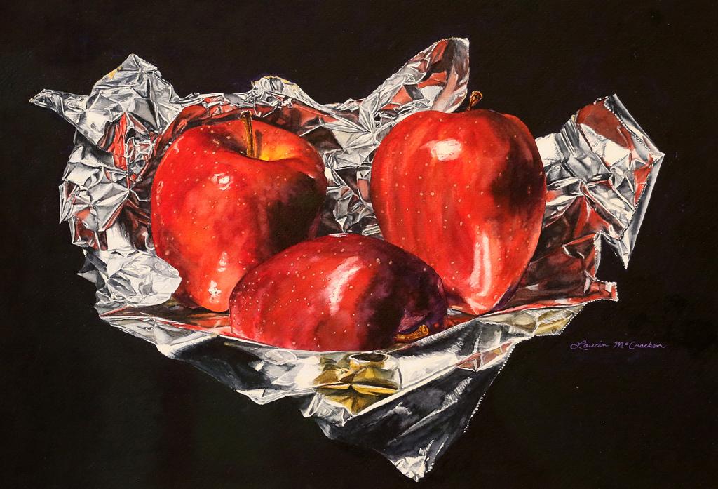 <p>&quot;Червени ябълки на фолио&quot; от Лорин Макракен, САЩ</p>