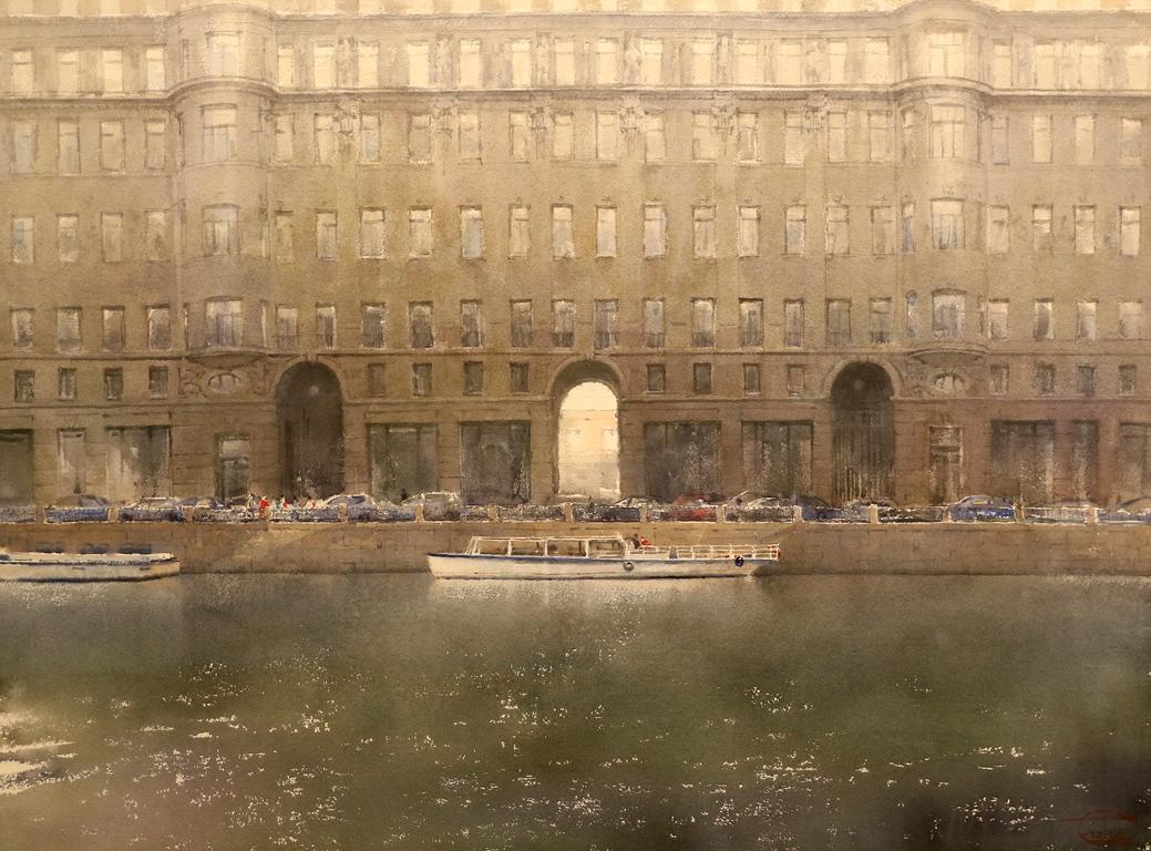 <p>&quot;Река Мойка, нейните къщи и лодки&quot; от Сергей Темерев, Русия</p>