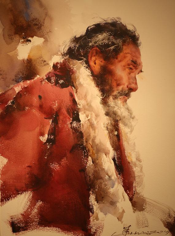 <p>&quot;Старецът в Ганан&quot;от Хуан Хуаджао, Китай</p>