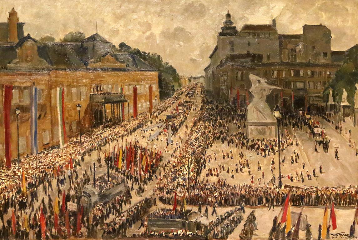 <p>Никола Танев - Манифестация по случай обявяването на България за република, 1946г.</p>