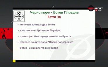 Черно море и Ботев ще се надлъгват в битка за точки