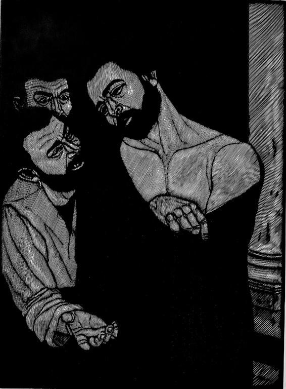 <p>Джовани Детори | Giovanni Dettori Ecce Homo гравюра в/у дърво I woodcut</p>