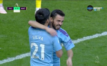 Бернардо с втори гол, Сити с шести срещу Уотфорд