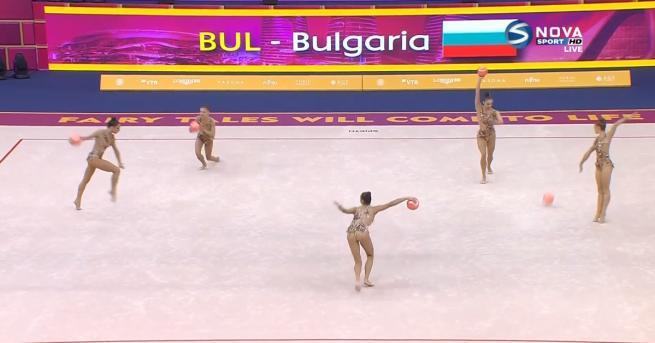 България Сребро за ансамбъла ни по художествена гимнастика Ансамбълът ни