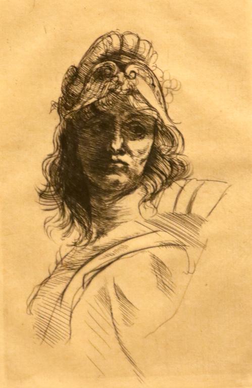 <p>Огюст Роден, Франция. Бюст на Белона, офорт</p>