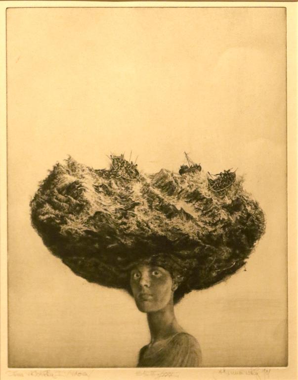 <p>Албин Бруновски, Чехословакия. Дама с шапка (Вдовица) 1981, офорт</p>