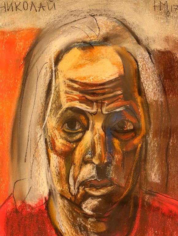<p>Автопортрет III, сух пастел, хартия</p>