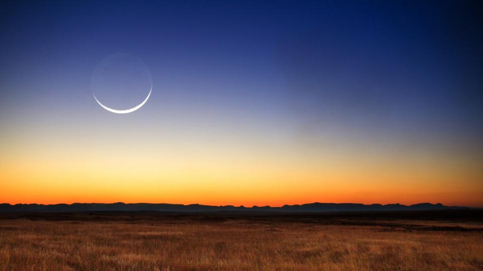 Луна новолуние космос планети