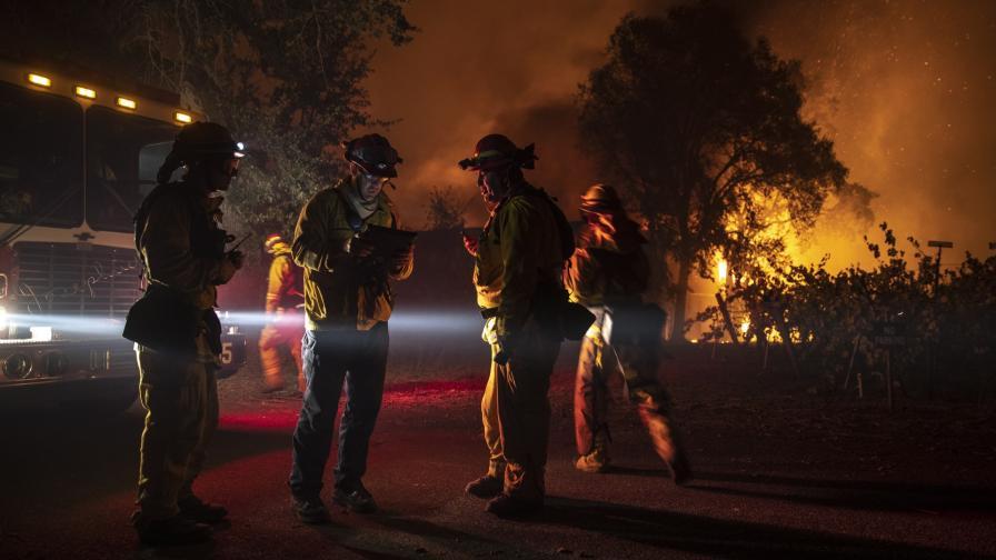 Пожарът Кинкаде в Калифорния