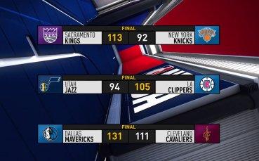 Развръзката в НБА от изминалата нощ