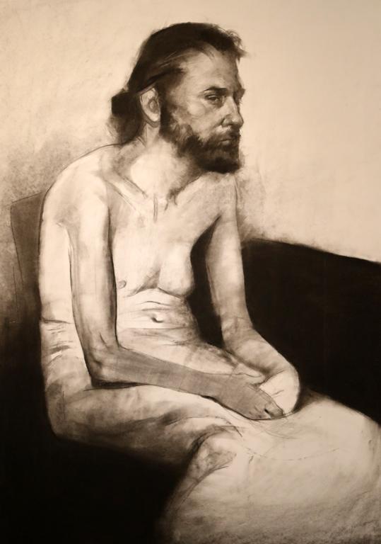 <p>Учебна рисунка на седнал мъж I</p>