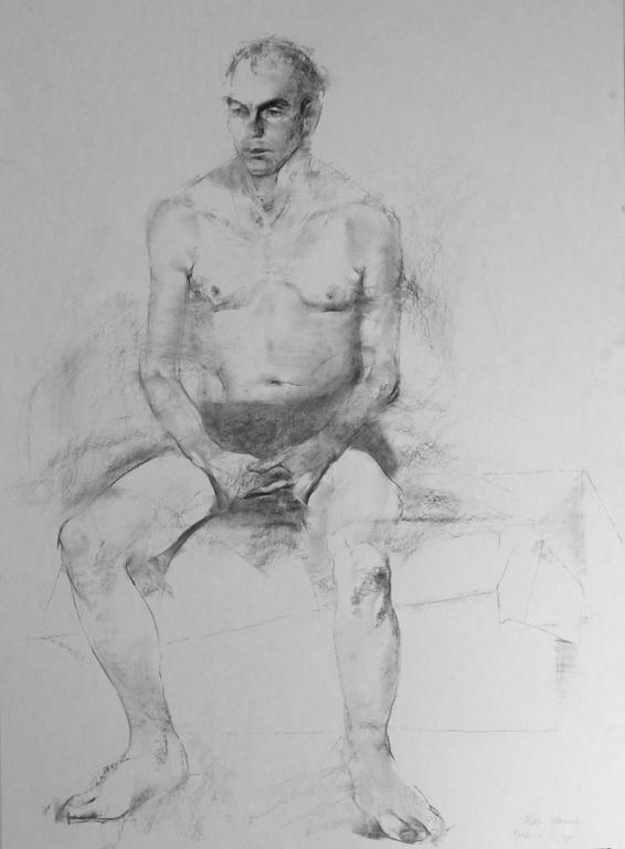 <p>Учебна рисунка на седнал мъж II</p>
