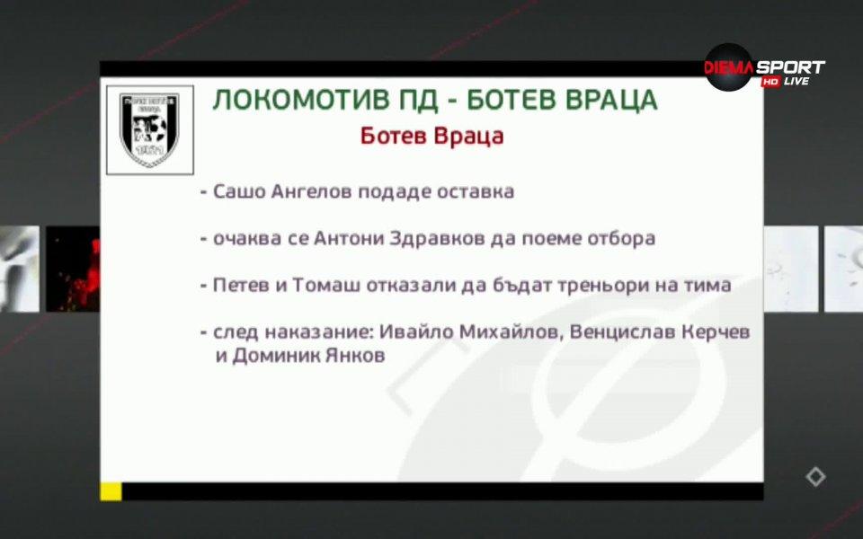 Локомотив Пловдив и Ботев Враца откриват програмата на 16-ия кръг