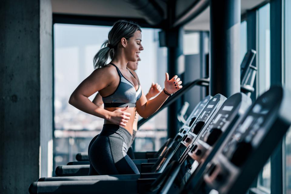 жена фитнес спорт храна