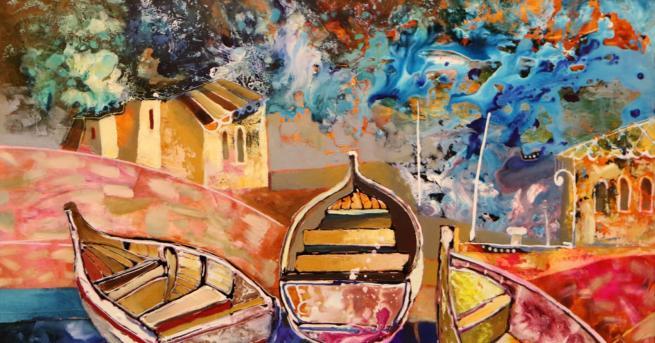 Любопитно Многоцветни и завладяващи - картините на Вили Николов Платната