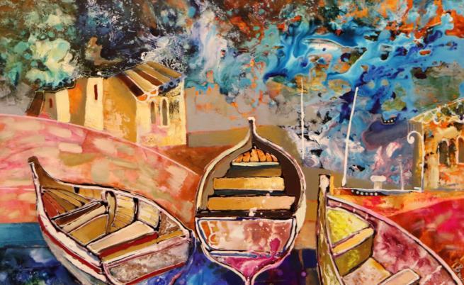 Многоцветни и завладяващи - картините на Вили Николов