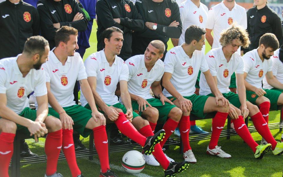 Футболистите от националния тим на България, както и щабът на