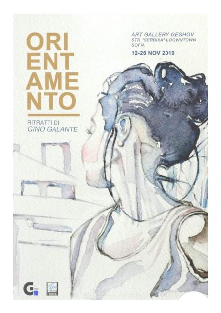 <p>Изложбата на италианският художник Джино Галанте &ldquo;ORIENTAMENTO&ldquo;, може да посетите до 26 ноември 2019 г. в галерия &quot;Гешов&quot; на ул. &bdquo;Сердика&ldquo; 4, София</p>