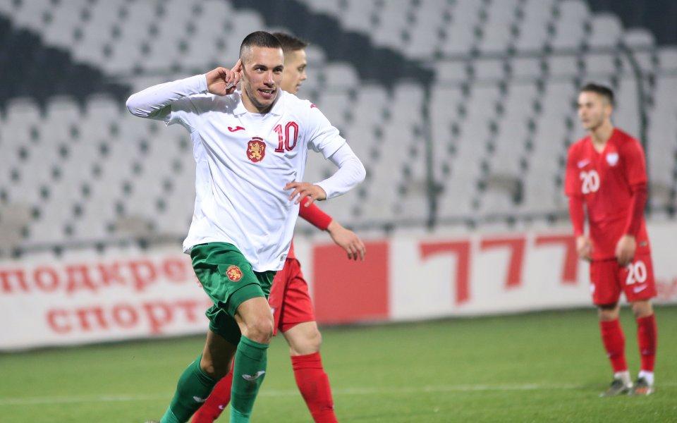 Младежкият ни национален отбор по футбол води с 3:0 надПолша