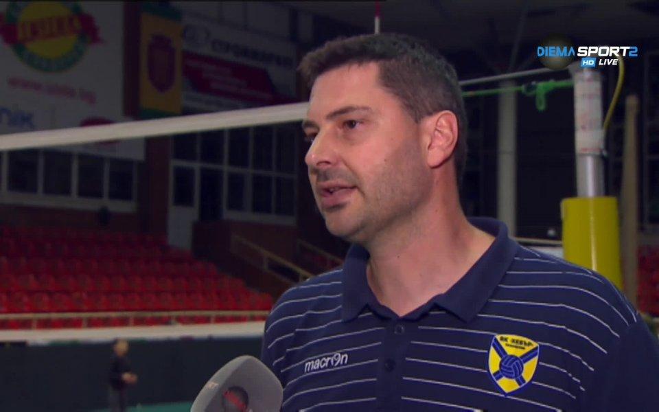 Наставникът на Хебър Атанас Петров коментира трудната победа на своя