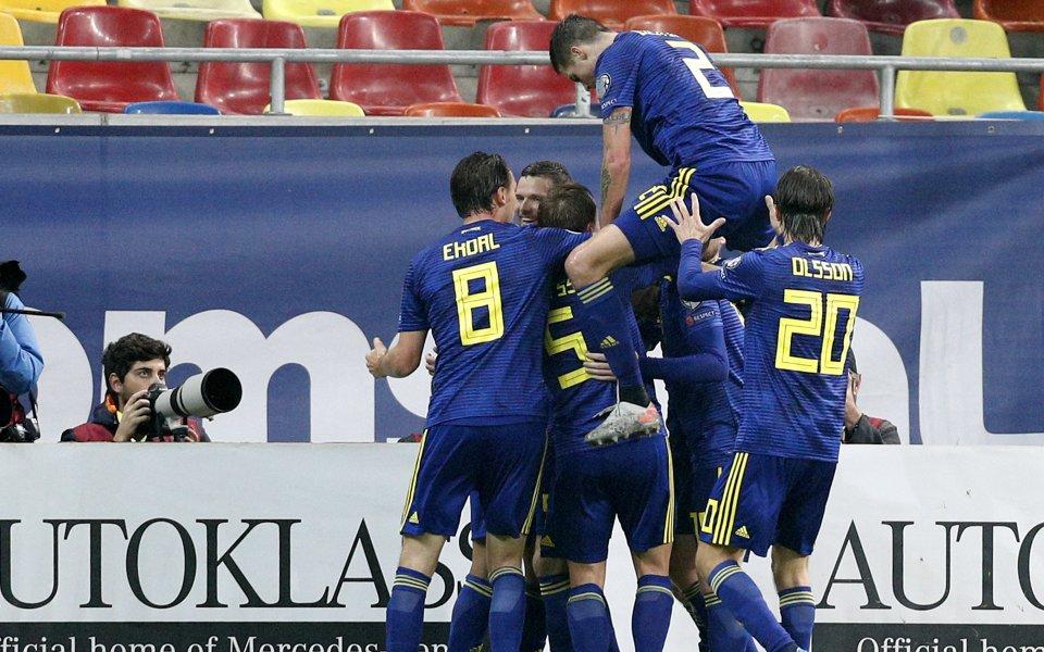Отборът на Швеция победи с 2:0 като гост Румъния и