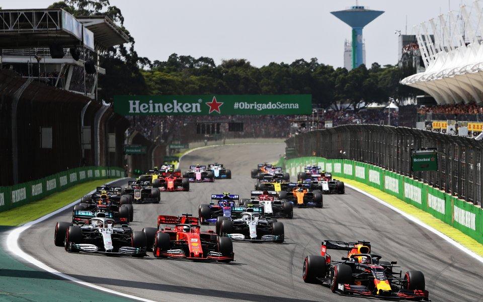 Стартирасъстезанието за Голямата награда на Бразилия във Формула 1. Това