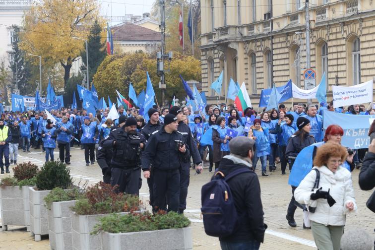 протест подкрепа болнични