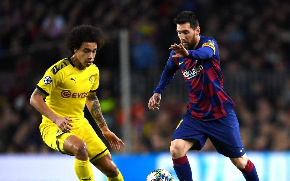 Отборите на Барселона иБорусия Дортмунд играят при резултат 0:0в дербито