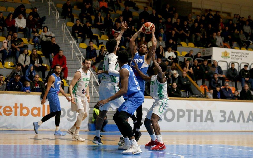 Левски Лукойл победи Берое с 85:76 (23:17, 25:20, 21:21, 16:18)