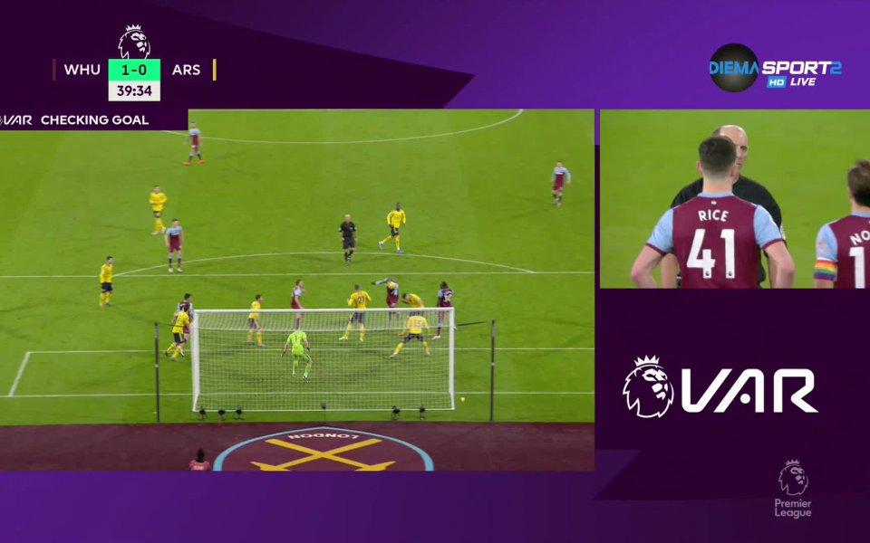 В 38-ата минута Анджело Огбона откри резултата в полза на