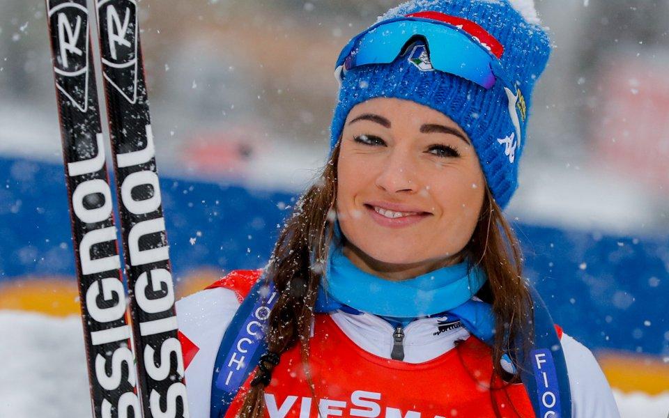 Доротея Вирер спечели спринта на 7,5 км в Хохфилцен, Австрия.