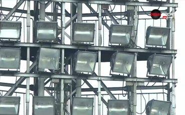 Проблем с осветлението забави ЦСКА и Дунав