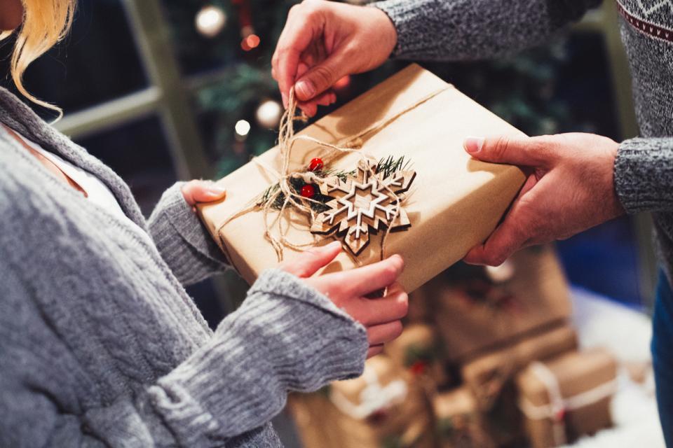 Коледа подарък празник