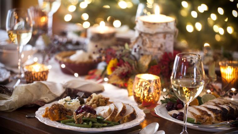 Коледа вечеря маса храна