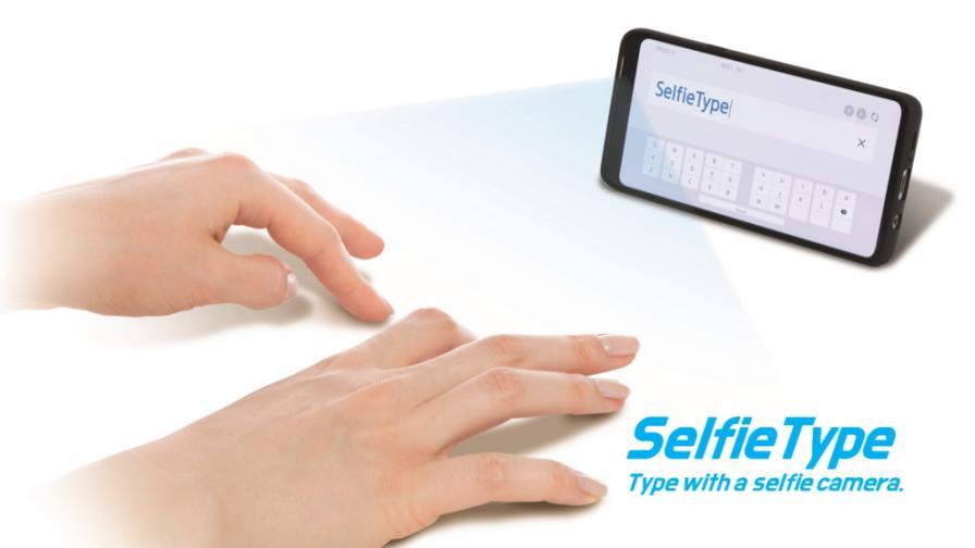 Виртуалната клавиатура SelfieType на Samsung