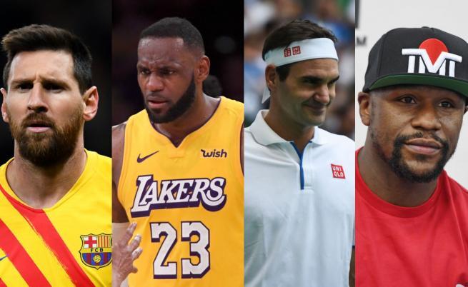 Ето кои са най-високоплатените спортисти на десетилетието