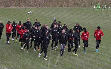 Първа тренировка на ЦСКА за 2020-a година