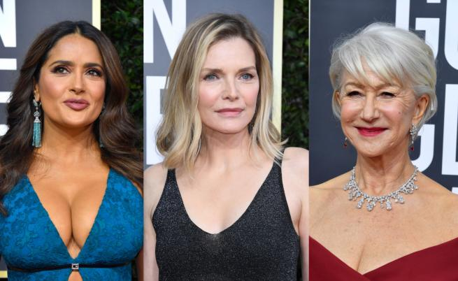 7 дами над 50 г., които не се страхуват от изрязаното деколте