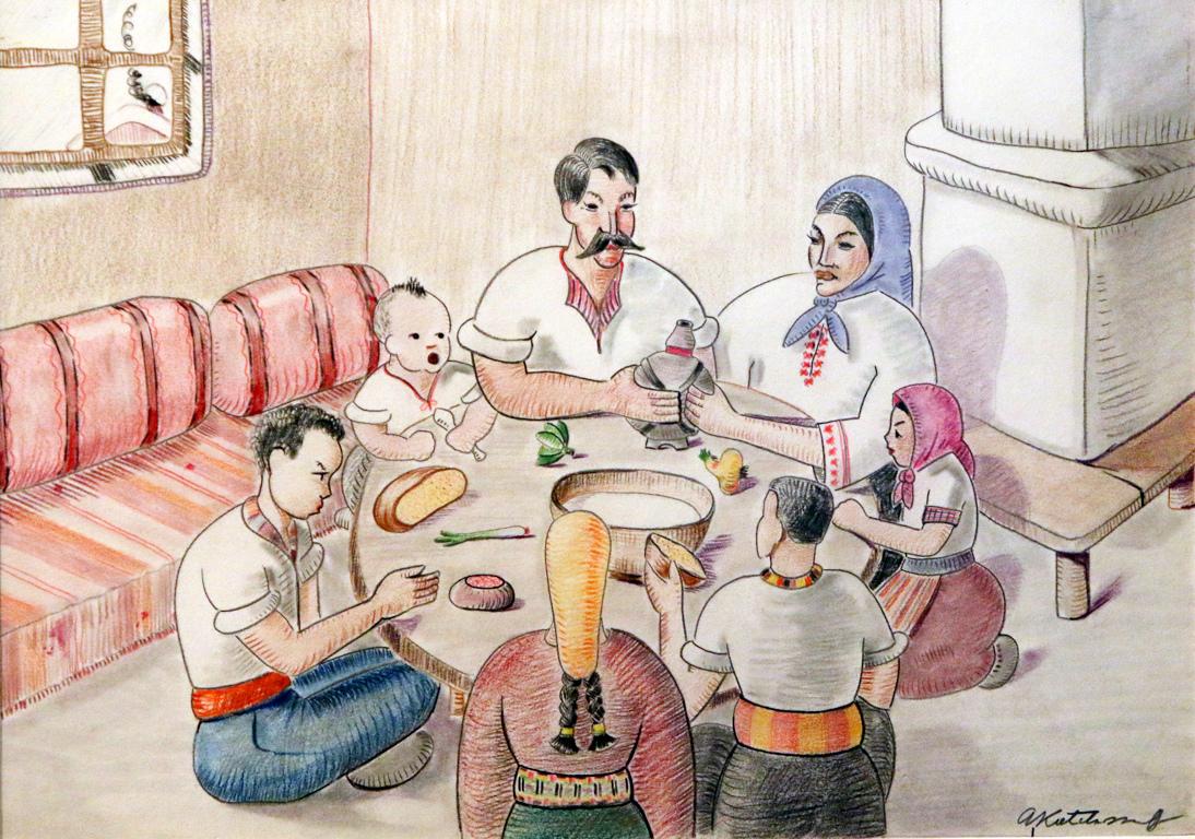 <p>В уютните и топли домове селяните имат време за почивка и игра.</p>  <p>На кръглите чинии е наредена храната</p>  <p>И всеки ден се намира повод за празнуване</p>  <p>Дървени кани, пълни с руйно вино или прясно биволско мляко се предават един на друг</p>