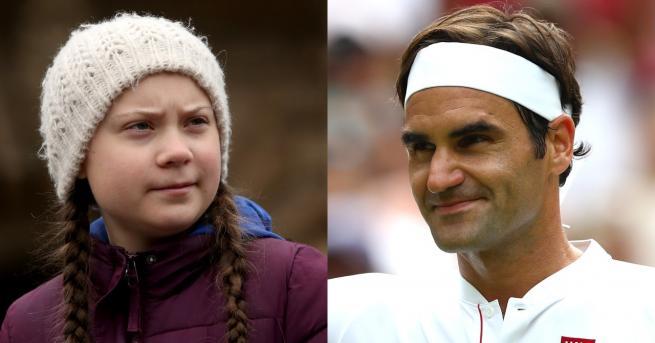 Любопитно Федерер отвърна на критиката на Грета Тунберг Какво каза