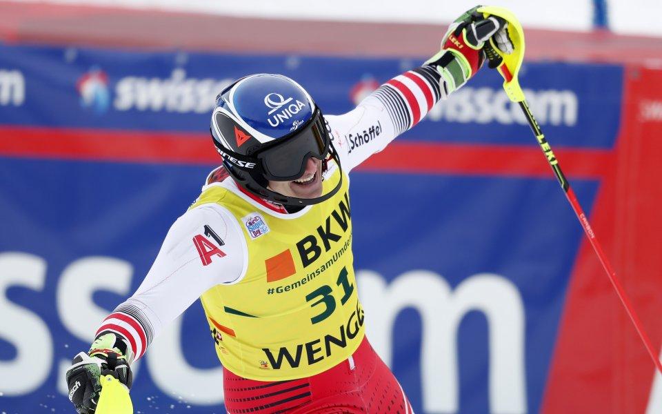 Двукратният олимпийски шампион Матиас Майер от Австрия спечели втората за