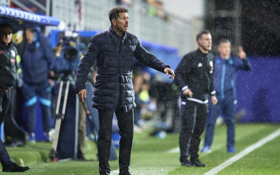 Старши треньорът на Атлетико Мадрид - Диего Симеоне, не прави